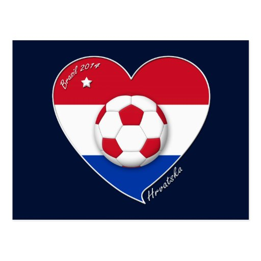 "Croatia ""HRVATSKA"" Soccer Team Fútbol Croacia 2014 Postales"