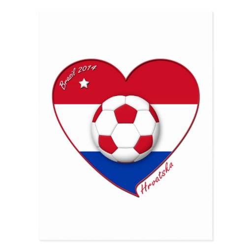 "Croatia ""HRVATSKA"" Soccer Team Fútbol Croacia 2014 Postal"
