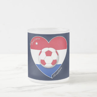 "Croatia ""HRVATSKA"" Soccer Team Soccer the Croatia  Frosted Glass Coffee Mug"