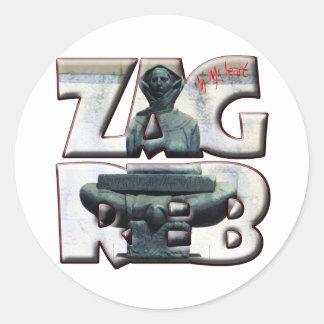 Croatia Hrvatska Zagreb 18A Popular Accessory Classic Round Sticker