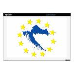 """Croatia in EU 17"""" Laptop Skin"""
