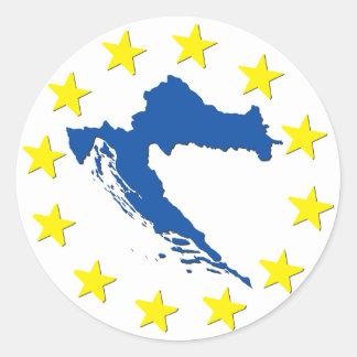 Croatia in EU Classic Round Sticker