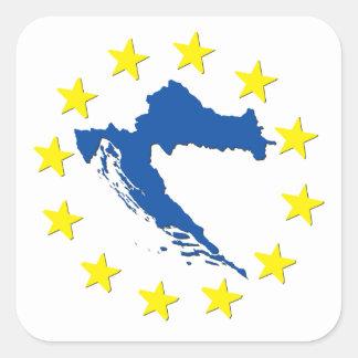 Croatia in EU Square Sticker