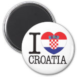Croatia Love v2 Refrigerator Magnets