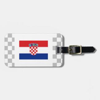 Croatia Luggage Tag w/ leather strap