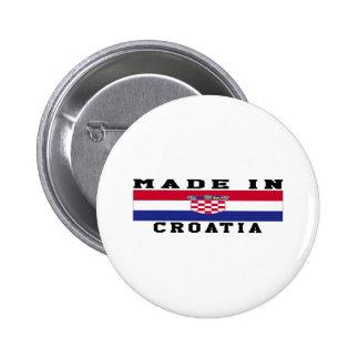 Croatia Made In Designs Pins