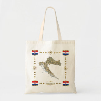 Croatia Map + Flags Bag
