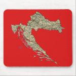 Croatia Map Mousepad