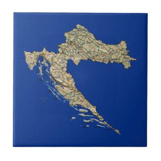Croatia Map Tile