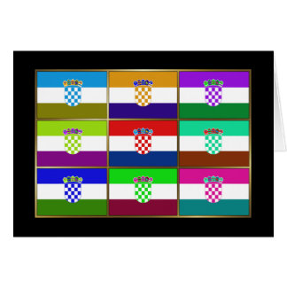 Croatia Multihue Flags Greeting Card