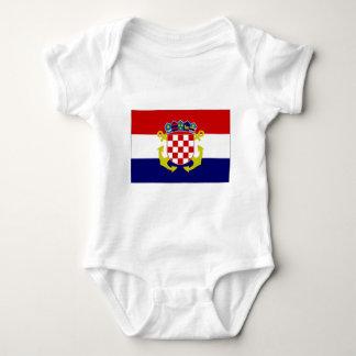 Croatia Naval Ensign Flag Baby Bodysuit