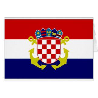 Croatia Naval Ensign Flag Card