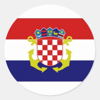 Croatia Naval Ensign Flag Classic Round Sticker