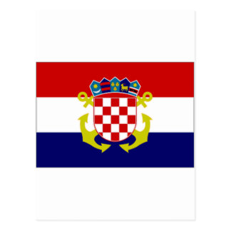 Croatia Naval Ensign Flag Postcard