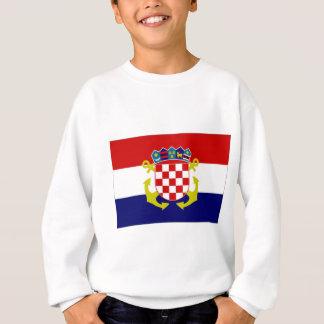 Croatia Naval Ensign Flag Sweatshirt