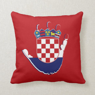 Croatia On The Palm Of My Hand Pillow