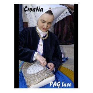 Croatia, PAG lace Postcard