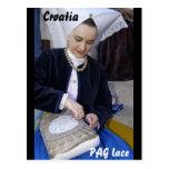Croatia, PAG lace Postcards