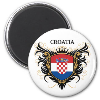 Croatia [personalize] 2 inch round magnet