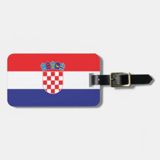 Croatia Plain Flag Bag Tag