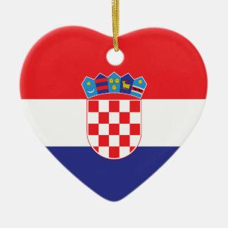 Croatia Plain Flag Ceramic Ornament