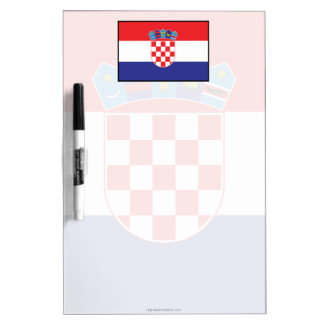 Croatia Plain Flag Dry Erase Board
