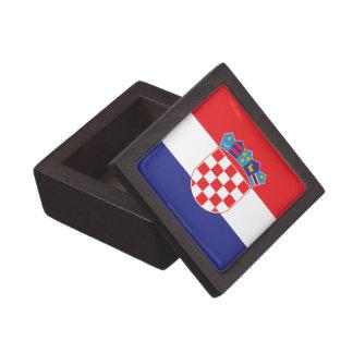 Croatia Plain Flag Jewelry Box