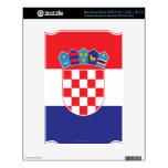 Croatia Plain Flag NOOK Decals