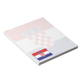 Croatia Plain Flag Note Pad