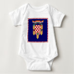 Croatia President Flag Baby Bodysuit