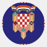 Croatia President Flag Classic Round Sticker