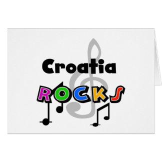 Croatia Rocks Greeting Card