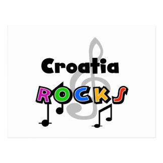 Croatia Rocks Postcard