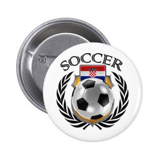 Croatia Soccer 2016 Fan Gear Pinback Button