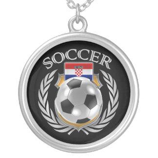 Croatia Soccer 2016 Fan Gear Silver Plated Necklace