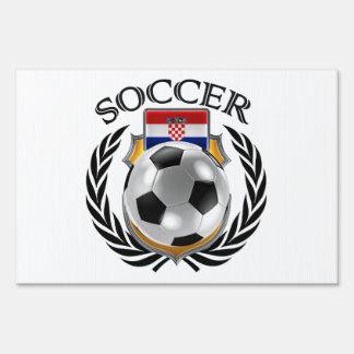 Croatia Soccer 2016 Fan Gear Yard Sign