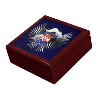 Croatia Soccer Champions Trinket Boxes