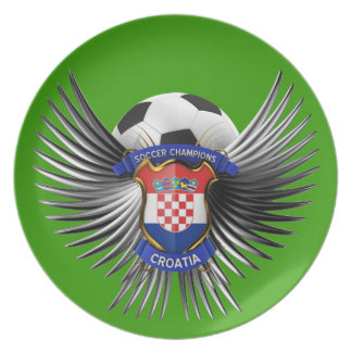 Croatia Soccer Champions Party Plate