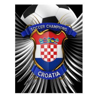 Croatia Soccer Champions Postcard