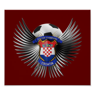 Croatia Soccer Champions Poster
