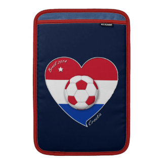 """""""CROATIA"""" Soccer Team 2014. Fútbol de Croacia Funda Para Macbook Air"""