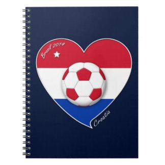 """""""CROATIA"""" Soccer Team 2014. Fútbol de Croacia Libretas"""