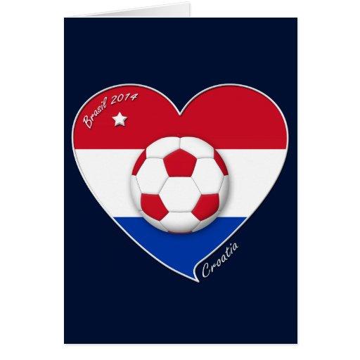 """""""CROATIA"""" Soccer Team 2014. Fútbol de Croacia Tarjeton"""