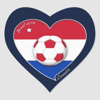 """CROATIA"" Soccer Team 2014. Soccer of the Croatia Heart Sticker"