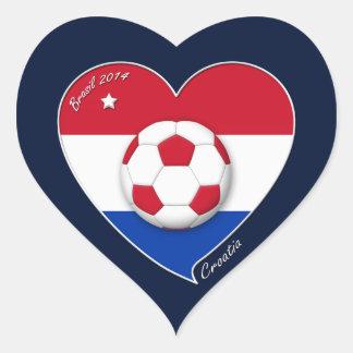 """CROATIA"" Soccer Team 2014. Soccer of the Croatia Heart Sticker"