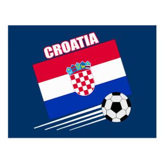 Croatia Soccer Team Postcard