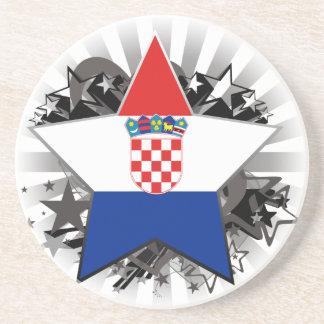 Croatia Star Drink Coaster