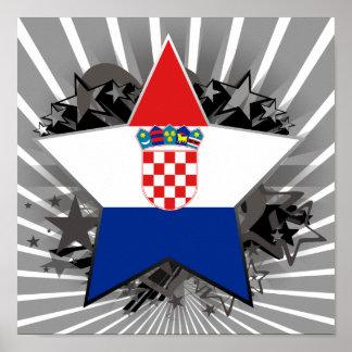 Croatia Star Poster