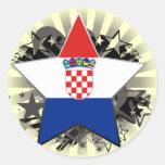 Croatia Star Round Sticker