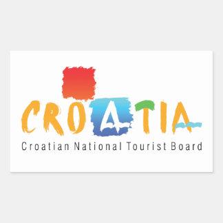 Croatia tourism rectangular sticker